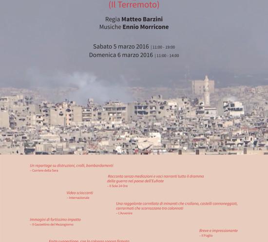 Poster The Quake by Matteo Barzini